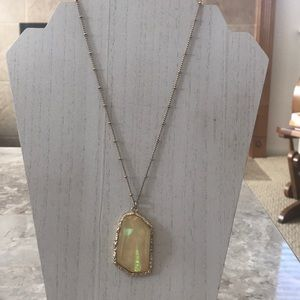Avon Gold and White Opalescent Necklace